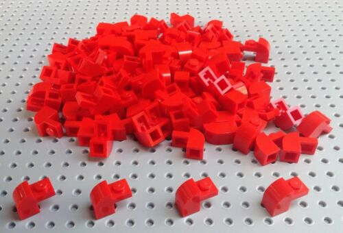 Lego Red 1x2x1.33 Brick with Curved Top 6091 x10 *BRAND NEW* City Star Wars