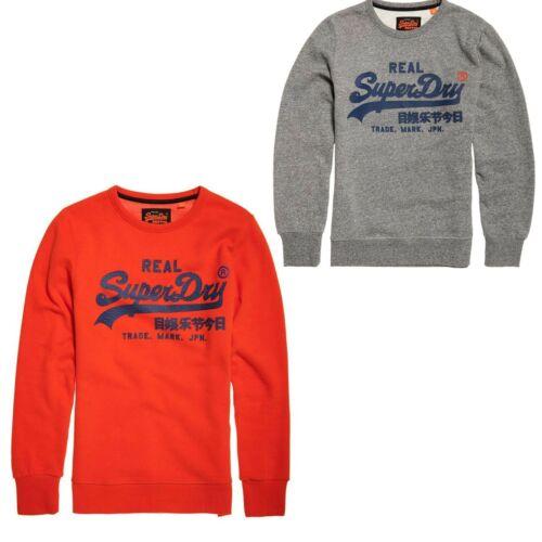 NEW Superdry Men's Long Sleeve Vintage Logo Panel Stripe Crew Neck SweatShirt