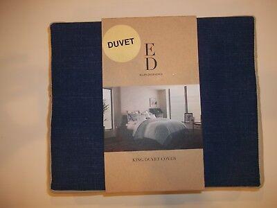 Ed By Ellen Degeneres Home Petra Ddg Blau/grau King Bettbezug Tagesdecke Bettwäsche