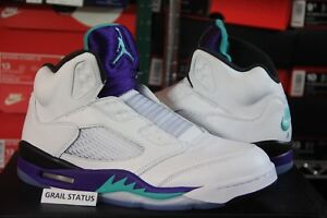 f1ea8aba94d19e Nike Air Jordan 5 V Retro NRG Fresh Prince NEW Grape AV3919-135 Sz ...