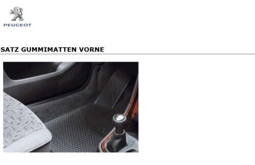 9663H1 Original Peugeot 307 307SW Break Gummimatten Gummi Fußmatten vorne 2tlg