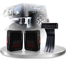 Xprite LED Rear Taillight 3rd Smoke Brake Light Combo For 07-17 Jeep Wrangler