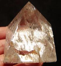 3.05OZ Natural Clear Quartz Rock Crystal Carving ART Pyramid