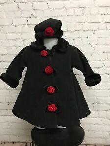 Image is loading 12-Month-Old-Toddler-DILLARDS-Black-Hat-Coat- fde7d99df79