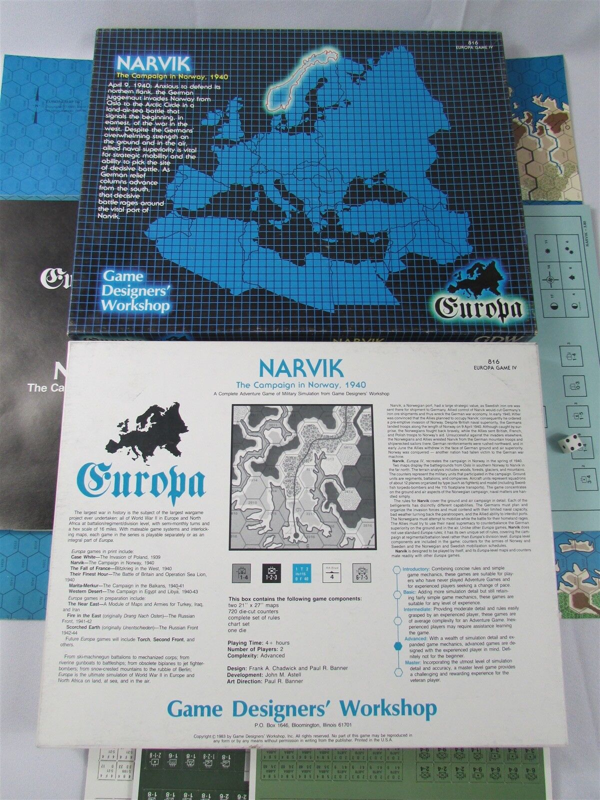 NARVIK THE CAMPAIGN IN NORWAY 1940 UNPUNCHED EXC  GDW