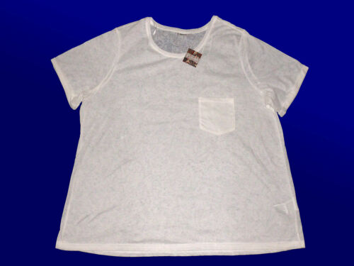 Femmes shirt CHEMISE tunique blouses t-shirt avec stukturmusterung taille 50 /& 54 wollweiß
