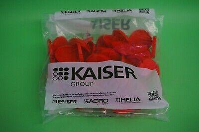 6 x Kaiser Signal-Deckel rot 1181-60 Neu  60 mm 50 Stück !!!