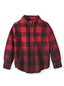 6ba55b292 Wonder Nation Long Sleeve Flannel Shirt, X-small (4/5) 682186601044 ...