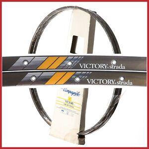 NOS-CAMPAGNOLO-VICTORY-STRADA-RIMS-28-034-700c-32H-VINTAGE-TUBULAR-80s-ROAD-RACING