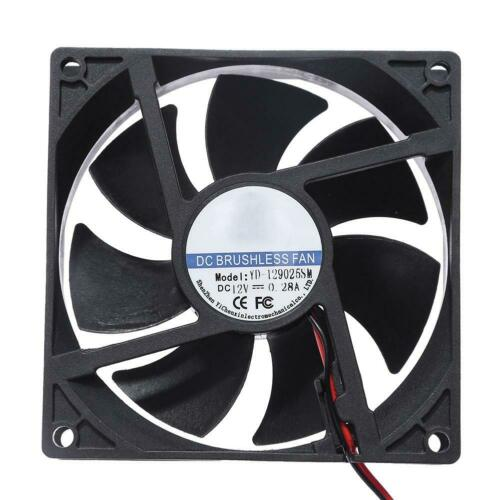 5//12//24V 2Pins Cooling Fan for PC Computer Case CPU Cooler 40//50//60//90//118mm