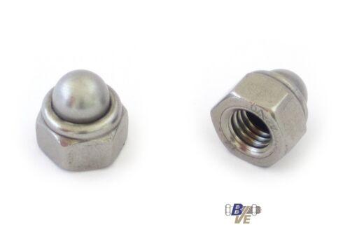 Hutmuttern mit Kunststoffeinsatz Sicherungshutmuttern DIN 986 EDELSTAHL A2