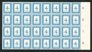 Nederland-Port-82-a-postfris-veldeel-van-32-zegels