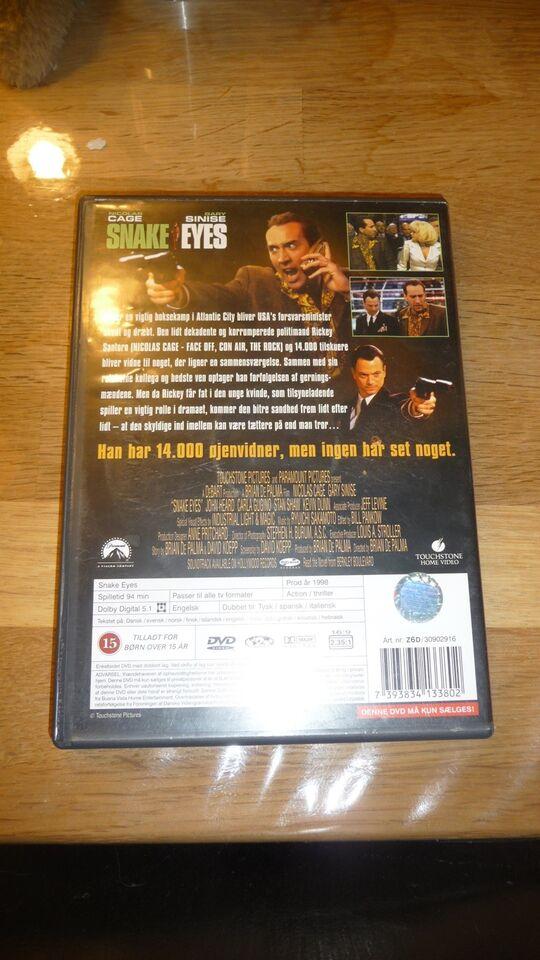 Snake eyes, DVD, action