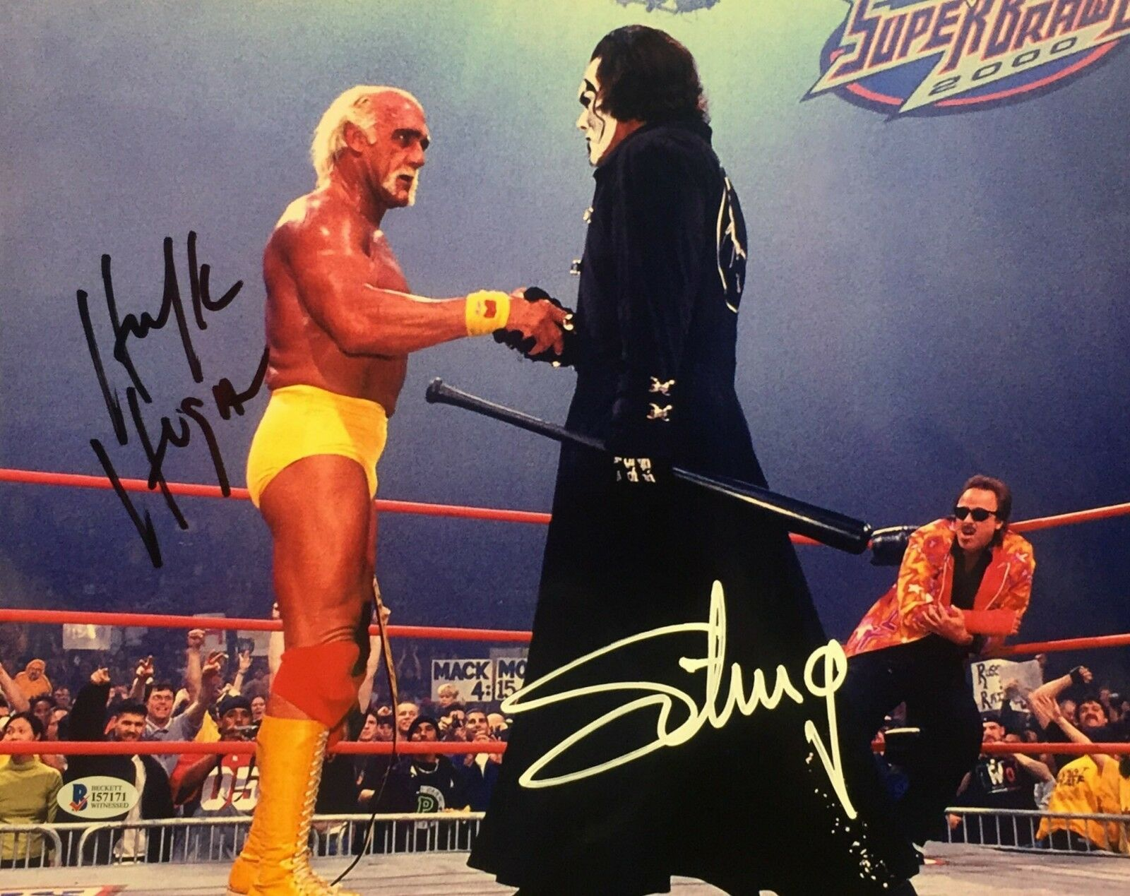 Hulk Hogan & Sting Signed 11x14 Photo *WCW *NwO Wrestling Beckett I57171