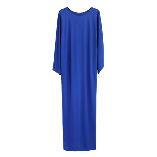 Women/'s Batwing Sleeve Kaftan Arab Loose Robe Dress Muslim Maxi Long Abaya Gowns