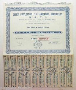 Action Ancienne : Safi Application Et De Fabrications Industrielles ( 655 ) Aswv8677-08012247-374277154