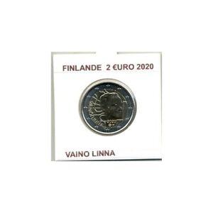 FINLANDE 2020 2 EURO COMMEMORATIVE VAINO LINNA SUP