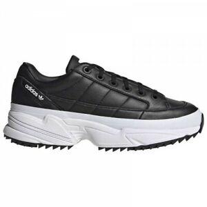 cien Madison Unirse  Zapatos de Mujer Adidas Kiellor Zapatillas Chunky Lifestyle Finta Cuero  Negro | eBay