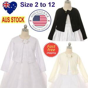 Girls-Bolero-Cardigan-Jacket-Flower-Girl-Communion-Confirmation-Dress-Bolero