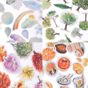 Korean-Trees-Weather-Food-Scrapbooking-Stickers-Decor-Sticker-DIY-Craft-Diary-gt-u