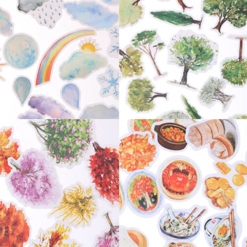 Korean Trees Weather Food Scrapbooking Stickers Decor Sticker DIY Craft Diary FO