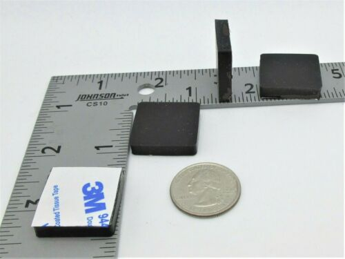 """1//4/"""" H Rubber Feet 8 Feet per Package 1/"""" Sq Rubber Pads w 3M Adhesive Back"""