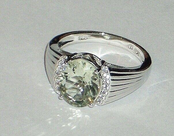Harry Ivens Damen Ring Sterling-Silber 925 vergoldet Champagner Quarz Weißtopas