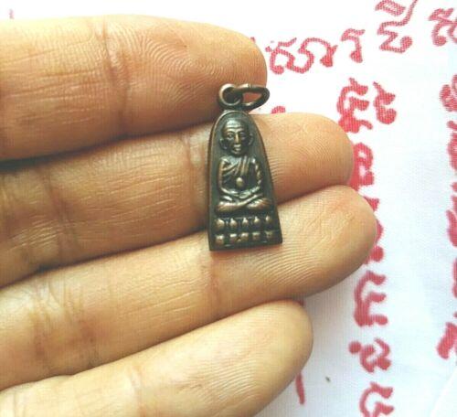 Tiny Pendant LP Tuad Wat Chang-hai Buddha Fetish Yant Amulet Thai Protect Life