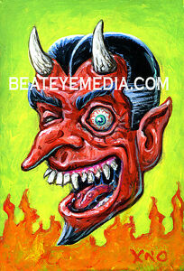 XNO-Original-Art-COMICS-Com-ic-Art-monster-horror-satan-devil-rat-fink-freaks