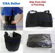 36x back support brace belt lumbar lower back waist adjust flexible heavy new