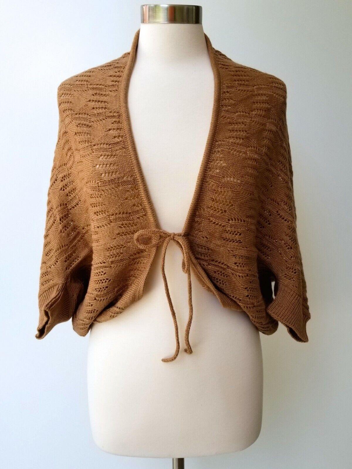 Alpaca Woven Sweater Cardigan Shawl Shrug Tan Taupe Wholesale Lot Full Size Run