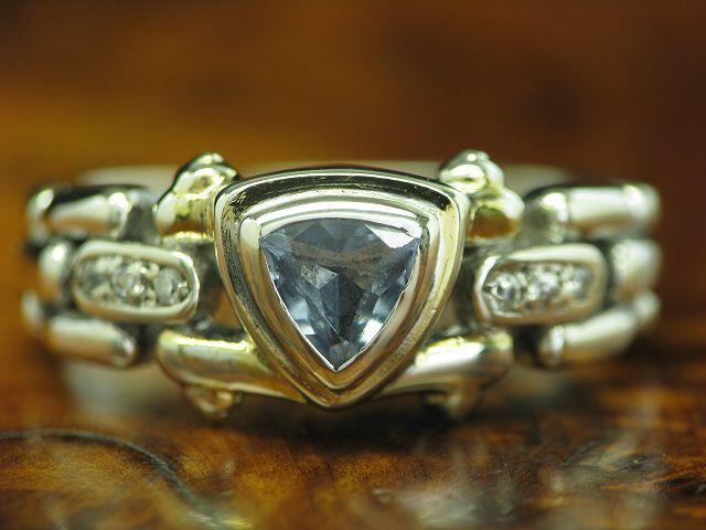 925 STERLING silver RING MIT blueTOPAS UND ZIRKONIA BESATZ   ECHTsilver   RG 52