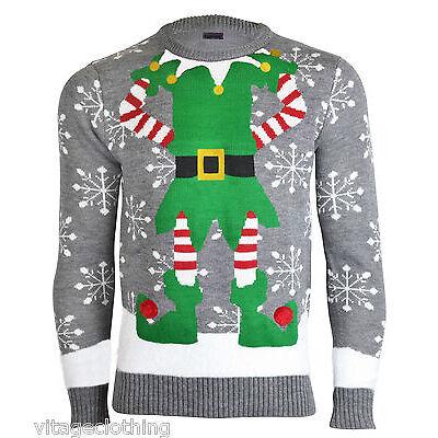 noroze herren-neuheit Elfen Joker gestrickt Weihnachten Retro Pullover TOP
