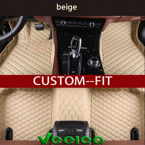 6 Colors Car Floor Mats for Nissan Rogue T32-7 Seat 2014-2018 Leather Car Mats