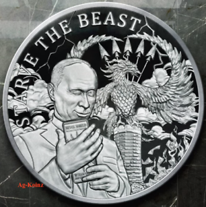 1 oz 2017 Das Vierte Reich  Proof Death of the Dollar #11 Silver Shield 999