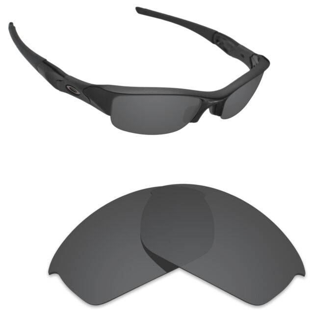 ce90748acff Hawkry Polarized Replacement Lenses for-Oakley Flak Jacket Stealth Black
