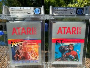 1982 Atari 2600 Sealed WATA Raiders of the Lost Ark & ET The Extra Terrestrial