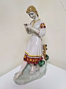 Vintage Figurine porcelain USSR 1970 Soviet Figurine polonnoe russian antique