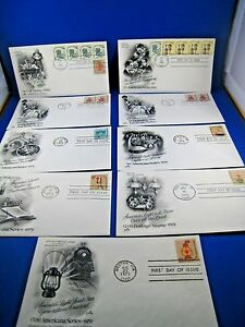 U.S. FIRST DAY COVER SETS - LOT of 9 - 1970s AMERICANA SERIES (FDC-32x)