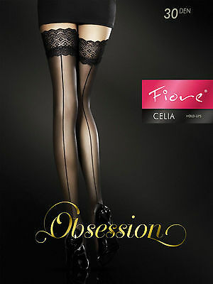 Celia FIORE Sheer Hold-Ups 30 DEN Sensuous hold-ups with a back seam pattern