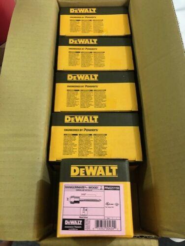"Lot of 5 boxes Dewalt 3//8/"" Zinc-Plated Steel Vertical Mount Rod Anchor total 125"