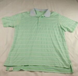 7361969a5 Peter Millar Mens Summer Comfort Striped Golf Polo Shirt Sz XL Green ...