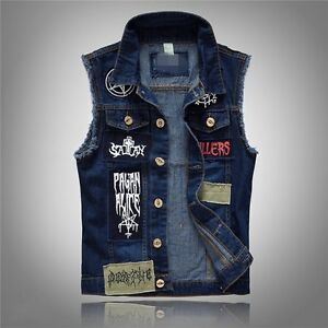 Giacca jeans patch uomo