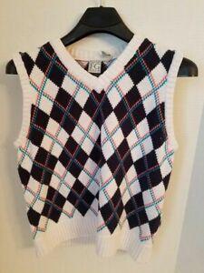 Mens-Golf-Sweater-Vest-Large-Field-Gear-FG-V-Neck-Cotton-Vintage-Style-Fashion