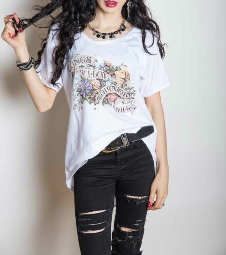 Kings Of Leon /'Flowers/' Womens Cut Out Shoulder Detail T-Shirt NEW