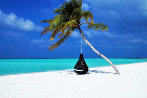 Foto Strand Bild Landschaft uvm 16isa Malediven Karibik Leinwand