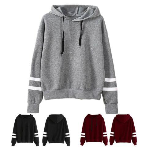 Fashion Women Long Sleeve Shirt Casual Blouse Loose Cotton Tops Shirt Hoodie EC