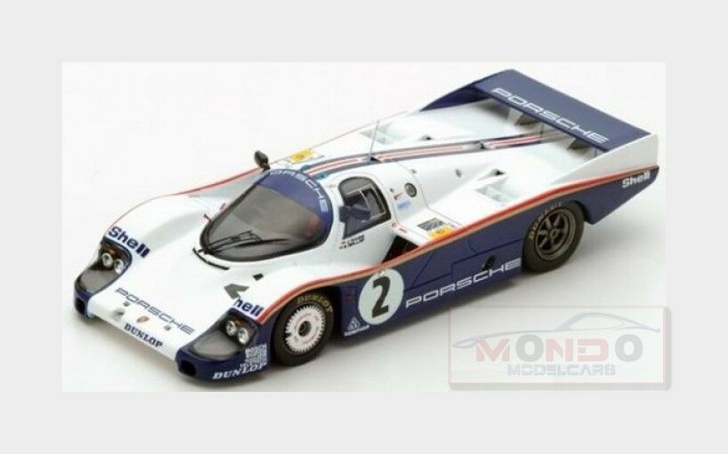 Porsche 956  2 24h Le Mans 1983 J. Mass  S. Bellof blanc bleu Spark 1 43 s5504  bénéfice nul