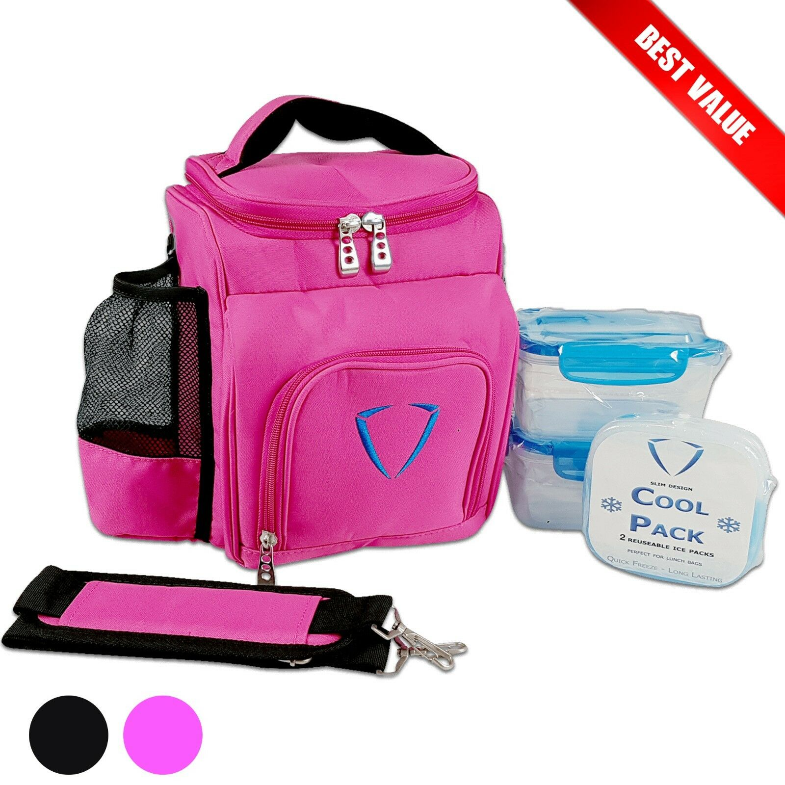 Lunch Bag Ladies Work Portable Insulated Carry Tote Cooler Gym Fitness for donna