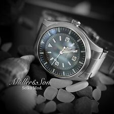 Seiko SNZG Dress Pilot Watch Mod Easy Read Automatic by Müller&Son